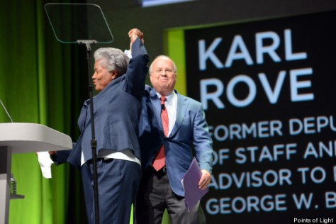 Brazile and Rove Photograph